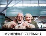 feeling astonishment. portrait... | Shutterstock . vector #784482241