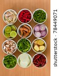 herb and spicy ingredients for... | Shutterstock . vector #78449071