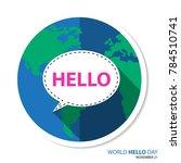 world hello day on november 21 | Shutterstock .eps vector #784510741