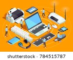 wireless technology electronic... | Shutterstock . vector #784515787