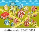 amusement park travel circus... | Shutterstock . vector #784515814