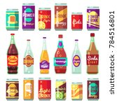 beverage soft and energy drinks ... | Shutterstock . vector #784516801