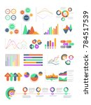multicolored infographics with... | Shutterstock . vector #784517539