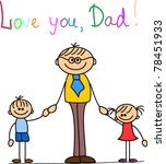 happy father's day | Shutterstock .eps vector #78451933