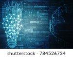 bulb future technology ... | Shutterstock . vector #784526734