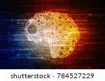 2d illustration technology...   Shutterstock . vector #784527229