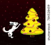 cartoon little fox with big...   Shutterstock .eps vector #784528459