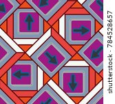 seamless abstract pattern with... | Shutterstock .eps vector #784528657