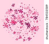 pink blots on a pink background.... | Shutterstock .eps vector #784533589
