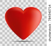 vector image of a heart on a... | Shutterstock .eps vector #784540714