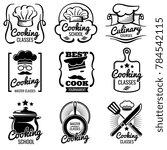 vintage cooking in kitchen... | Shutterstock . vector #784542115