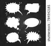 cartoon speech balloons... | Shutterstock . vector #784542181