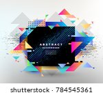 abstract fantastic background ... | Shutterstock .eps vector #784545361