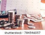 debt collection and tax season ... | Shutterstock . vector #784546057
