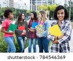 latin american female student... | Shutterstock . vector #784546369