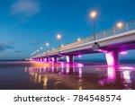 illuminated concrete pier in... | Shutterstock . vector #784548574