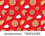 chinese new year goodies...   Shutterstock .eps vector #784551985
