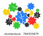 mechanism and mechanical device ... | Shutterstock .eps vector #784555879