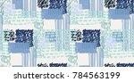 memphis seamless  pattern in...   Shutterstock .eps vector #784563199
