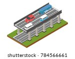 street level toll road traffic  ... | Shutterstock .eps vector #784566661