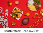 flat lay chinese new year new... | Shutterstock . vector #784567849