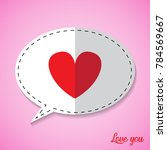 love hearts in valentine day on ... | Shutterstock .eps vector #784569667