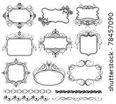 illustration of set of vintage... | Shutterstock .eps vector #78457090