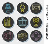set business economy liner icon | Shutterstock .eps vector #784578211