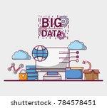 data server network center... | Shutterstock .eps vector #784578451