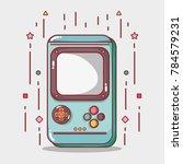 digital videogame play game... | Shutterstock .eps vector #784579231