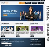 blue website template. vector... | Shutterstock .eps vector #78458053