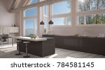 modern kitchen in classic villa ... | Shutterstock . vector #784581145