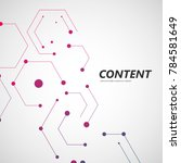 line and dots connect vector....   Shutterstock .eps vector #784581649