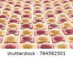 Homemade Colorful Raw Ravioli ...