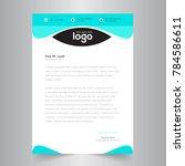 elegant letterhead template... | Shutterstock .eps vector #784586611
