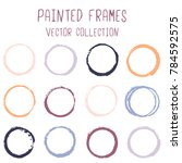 round paint brush stroke vector ... | Shutterstock .eps vector #784592575