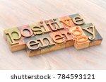 positive energy word abstract... | Shutterstock . vector #784593121