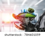 side view of business woman in... | Shutterstock . vector #784601059