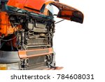 front engine a truck isolated... | Shutterstock . vector #784608031