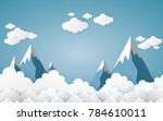 the mountains with views over...   Shutterstock .eps vector #784610011