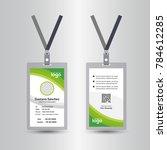 green template staff or... | Shutterstock .eps vector #784612285