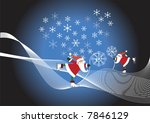 two santa claus with snowflakes ... | Shutterstock .eps vector #7846129