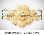 romantic luxury light card for... | Shutterstock .eps vector #784614199