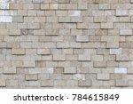 old grey bricks wall pattern. | Shutterstock . vector #784615849