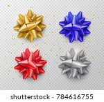 bow isolated on transparent... | Shutterstock .eps vector #784616755