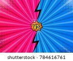 versus vs letters fight... | Shutterstock .eps vector #784616761