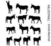 vector  isolated silhouette of... | Shutterstock .eps vector #784620784