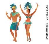 set of brazilian samba dancers. ... | Shutterstock .eps vector #784621651