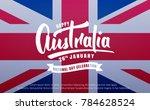 australia day. banner for... | Shutterstock .eps vector #784628524
