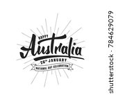 australia day. typographic... | Shutterstock .eps vector #784629079